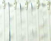 SALE Wholesale 11 Inch White Zippers YKK Color 501 50 Pieces