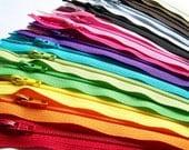 25 Assorted 14 Inch YKK Zippers