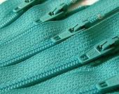 Ten Aquamarine 6 Inch YKK Zippers Color 049