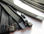 YKK Separating Zippers- Number 3s- Black 580- 5pcs- Available in 5,6,7,8,10,12,14,16,18, and 22 Inch