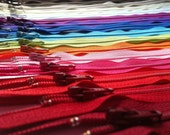 Zippers- 20 inch Assorted- (100) Pieces YKK Closed Bottom Zippers for skirts, dresses, purses and more