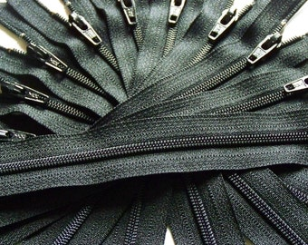 Wholesale fifty 14 Inch Black YKK Zippers Color 580