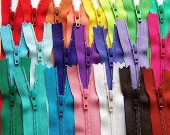 SALE 100 Assorted 6 Inch Ykk Zippers