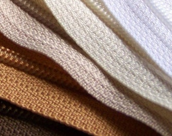 7 Inch YKK Zipper Bundle NATURALS brown tan beige vanilla white 10 pcs