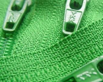 Ten Grass Green 14 Inch Ykk Zippers Color 151