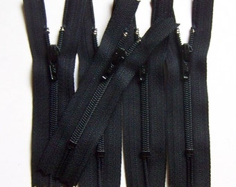 YKK Zippers- 3 Inch - Black 580- (25) Pieces- Wholesale