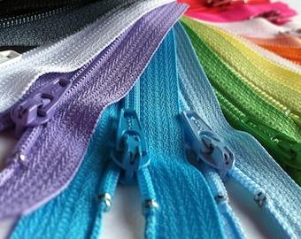 25 Assorted 3 Inch YKK Zippers