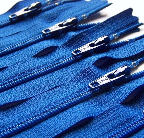 Ykk Zippers Ten 14 Inch Royal Blue Color 918