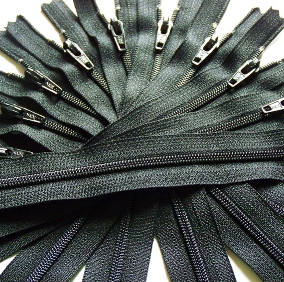 Wholesale Twenty-five 14 Inch Black YKK Zippers Color 580