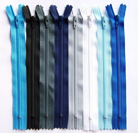 Ykk Zippers Rainy Day 8 Piece Sampler Pack- Available in 3,4,5,6,7,8,9,10,12,14,16,18,20 and 22 Inches