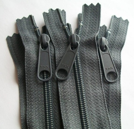 Long Pull Purse Zippers 16 Inch 5 pieces Slate Gray YKK Color 914