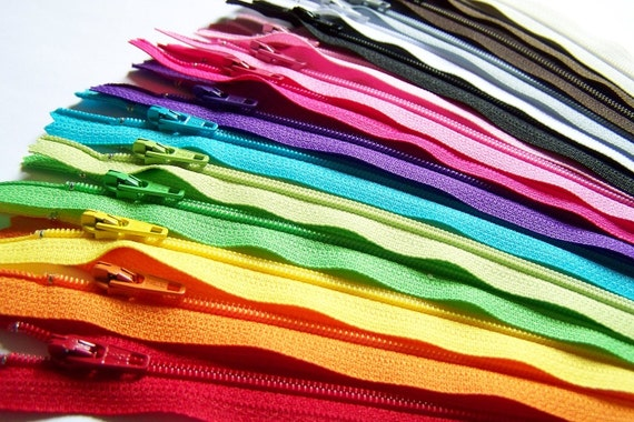 SALE 50 Assorted 14 Inch YKK Zippers
