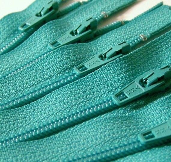 7 Inch Zippers 10 Pieces YKK Aquamarine Color 049