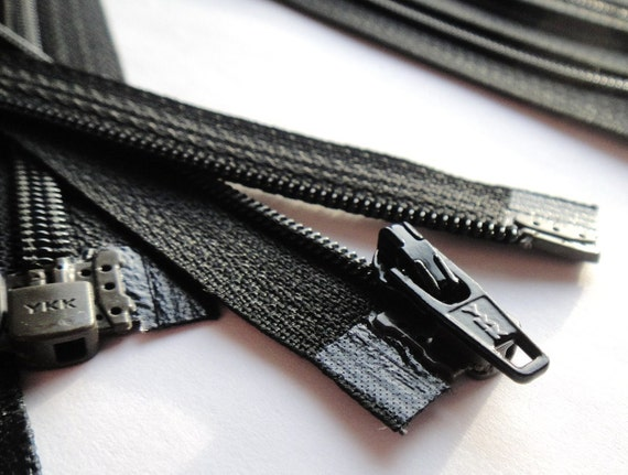 Separating Zippers- 18 Inch Black Nylon Coil Ykk Brand Zippers-  (5) Pieces
