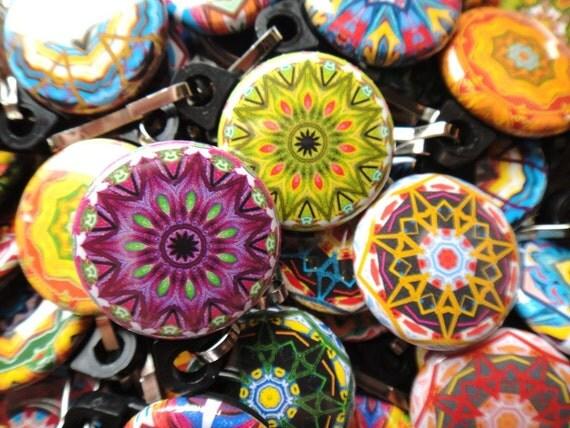 50 Assorted Kaleidoscope Zipper Pulls- Pinwheel Collection
