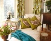 GreeN   paisley decorative throw  pillows