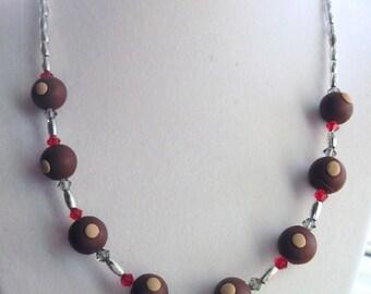 Ohio State Buckeye Necklace with Swarovski Crystals