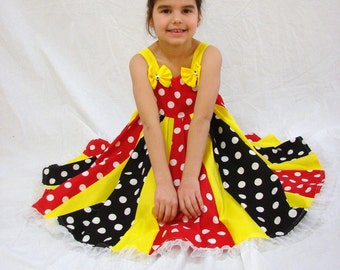 Custom Boutique Minnie Mouse Inspired Twirl Dress 2T-6X