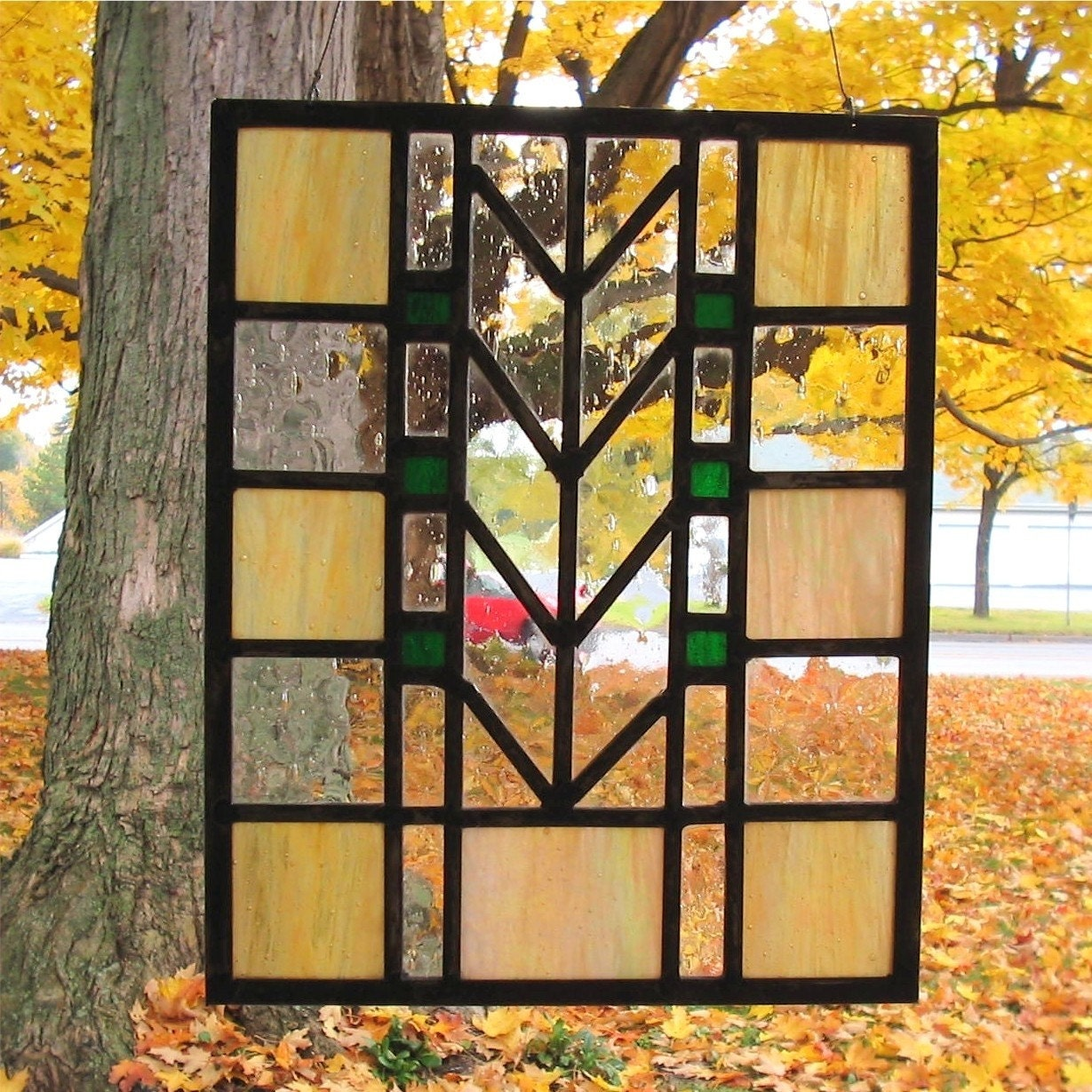Stained Glass Prairie Style Tree Of Life Panel