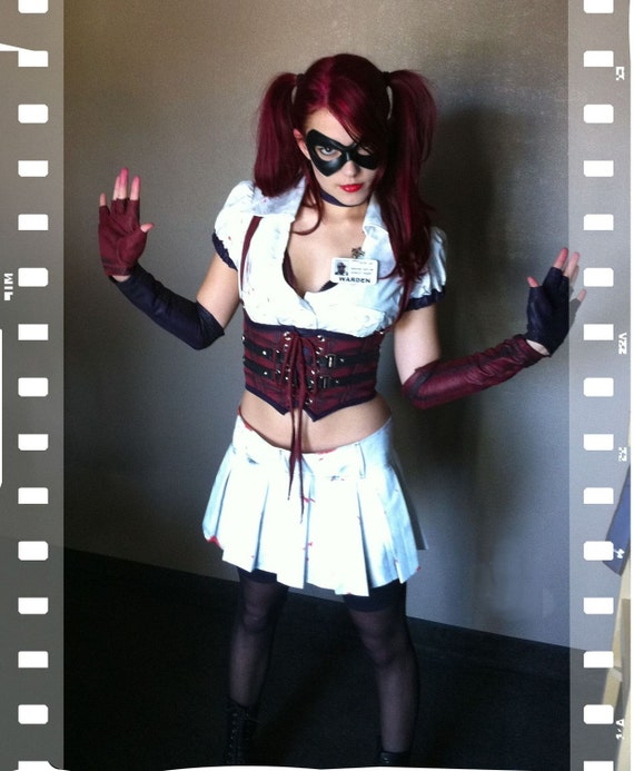 Harley Quinn Arkham asylum Inspired Comic Con Halloween Costume RESEREVED FOR Jasmine