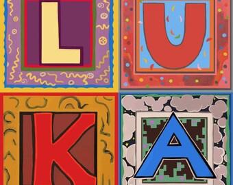 Pick 4 alphabet letters