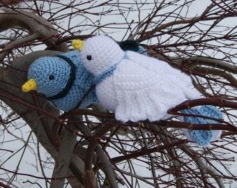 PDF Crochet Pattern - Amigurumi Doves