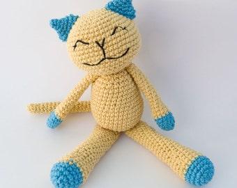 PDF Crochet Pattern - Cute Cotton Kitty
