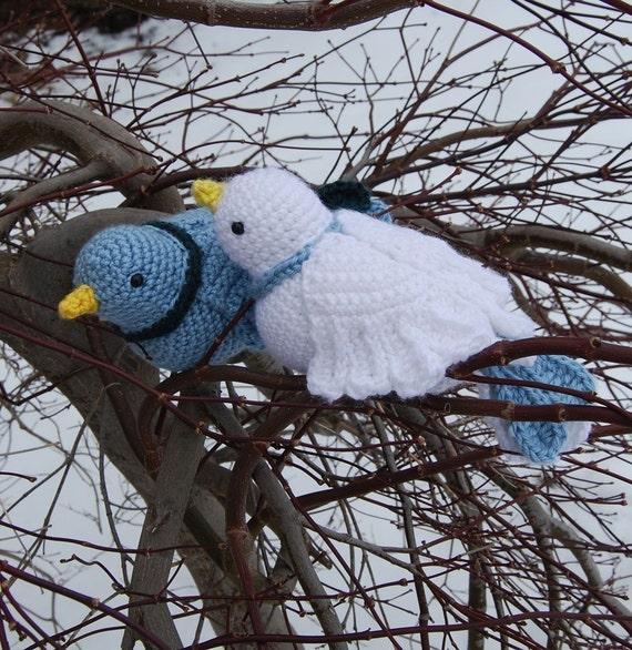 PDF Crochet Pattern Amigurumi Doves