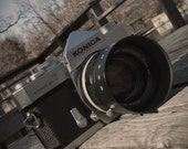 Konica Autoreflex T with THE sweet 57mm hexanon lens and hood of Amazingtown