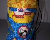 Yellow Submarine Knitting Project Bag