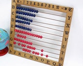 Child's Counting and Alphabet Toy/Abacus