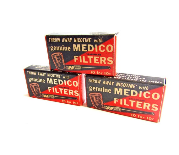 Vintage Pipe Filters by Medico of New York