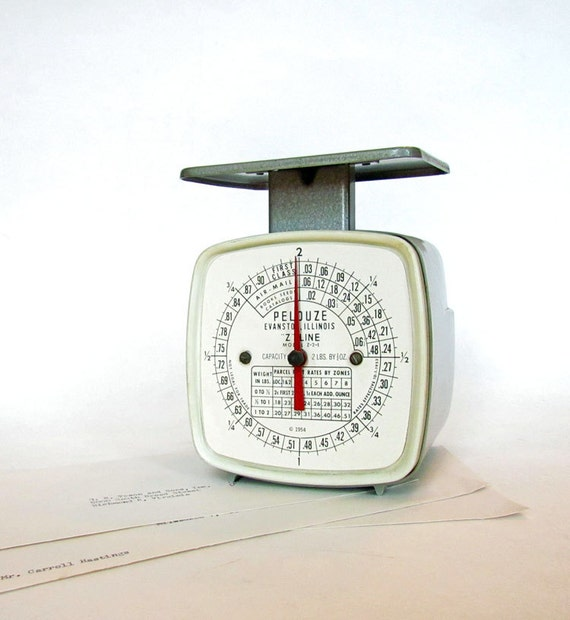 """Vintage Postal Scale by Pelouze """"Z"""" Line Model Z-2-1"""