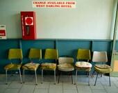 Photograph - The Line Up Photograph - Laundromat Chairs - 8x10 Original Signed Fine Art Photograph