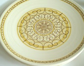 4 Sierra - Ceramic Dinner plates yellow brown cream under 25 - betsyDesign