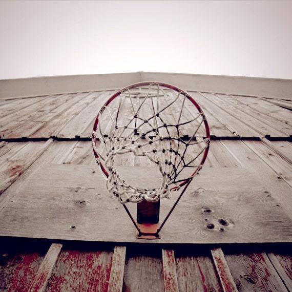 Sport Photo - Basketball Photo - Photograph - Basketball Hoop Photograph - Hoop - 12x12 Original Signed Fine Art Photograph - Ready to Ship