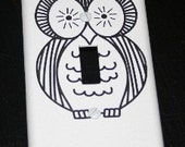 Woot Woot Striped Owl Switch Plate