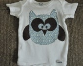SALE Chester the Owl onesie 12 months