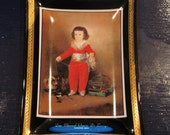 Vintage Don Manuel Osorio De Zuniga Glass Plate by Houze Art
