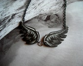 CLEARANCE - Dark Angel Wings Necklace