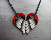 Soaring Heart Tattoo Necklace
