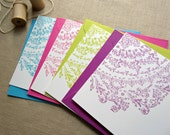 Lace Doily Note Card, Ladies and Lace Note Card