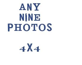 set of nine 4x4 fine art photographs // your choice // custom size