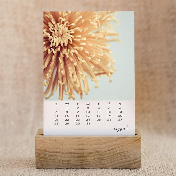 2011 Desk Calendar With Wooden Base Original Fine Art