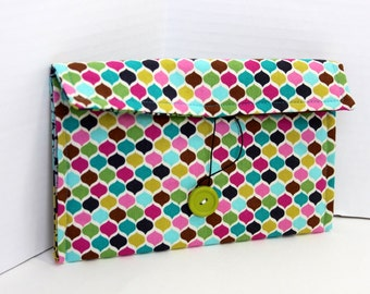 Nook or Kindle e-reader pouch -  multicolored ogee
