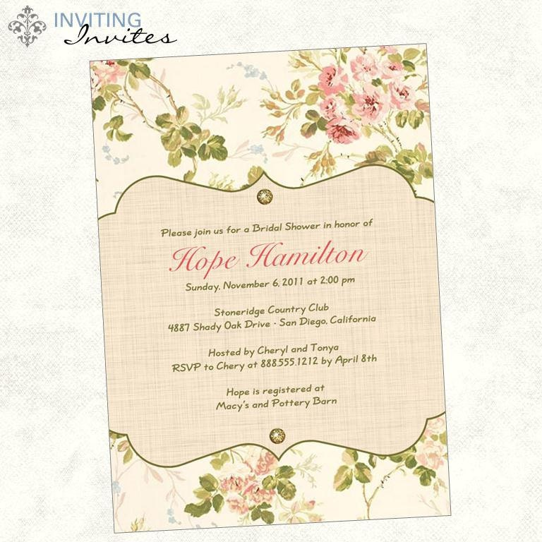 Rose Garden Bridal Shower Or Baby Shower By Invitinginvites