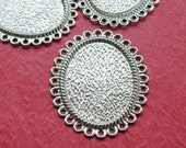 Cameo Setting 100pcs 25x18mm Antique Silver Cabochons Settings Cameo Base S09--20% OFF