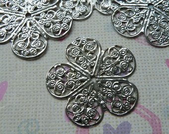 10pcs 37mm Antique Silver Filigree Base Wire Wrap S114--20% OFF