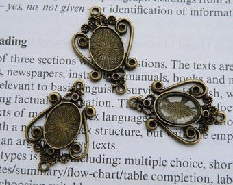 Cameo Setting 20pcs 14x10mm Antique Bronze Cabochons Settings Cameo Base 20763--20% OFF