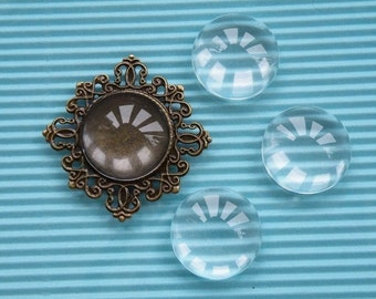 Glass  Cabochon 50pcs 25mm Clear Glass Dome 22139--20% OFF